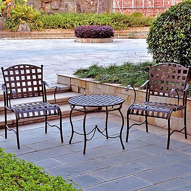 Alcott Hill Schilling 3 Piece Patio Bistro Set