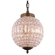 Mistana Crestview 1-Light Crystal Shade Globe Pendant
