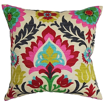 Bungalow Rose Brinkley Floral Cotton Throw Pillow; 24'' x 24''