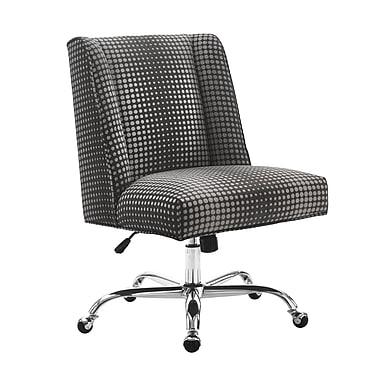 Draper - Fauteuil de bureau, base en chrome, gris / noir