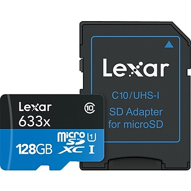 Lexar™ – Carte mémoire Professional 633X SDHC/SDXC UHS-I, 128 Go, (118095)