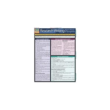 Barcharts Publishing Research Writing: Papers, Theses & Dissertations Workbook, Grade 4 - Grade 12 [eBook]