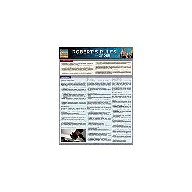 Barcharts Publishing Roberts Rules Of Order Quickstudy Workbook By Shakespeare Squared, Grade 10 - Grade 12 [eBook]