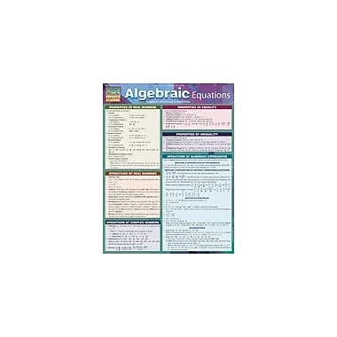 Barcharts Publishing Algebraic Equations Workbook, Grade 6 - Grade 12 [eBook]