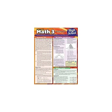 Barcharts Publishing Math 3 Common Core 11th Grade Workbook By Hales, John [eBook]