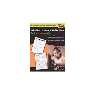 Chalkboard Publishing Media Literacy Activities: Grades 4-6 (Canadian Version) Workbook, Grade 4 - Grade 6 [eBook]