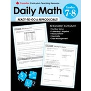 Chalkboard Publishing Canadian Daily Math Grade 7-8 Workbook, Grade 7 - Grade 8 [eBook]