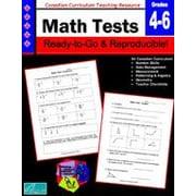 Chalkboard Publishing Canadian Math Tests 4-6 Workbook, Grade 4 - Grade 6 [eBook]