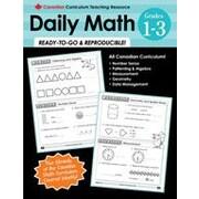Chalkboard Publishing Canadian Daily Math 1-3 Workbook, Grade 1 - Grade 3 [eBook]