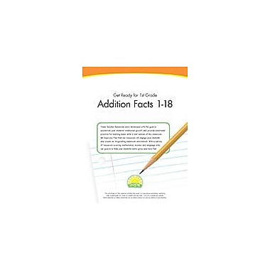 Creative IP Get Ready For 1st Grade: Addition Facts 1-18 Workbook By Thompson, Kim, Grade 1 [eBook]