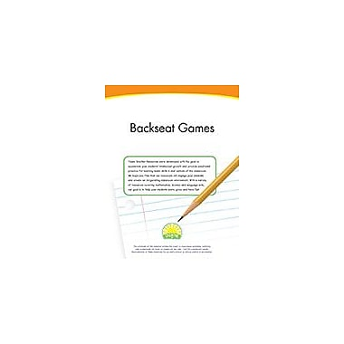 Creative IP Backseat Games Workbook By Thompson, Kim, Preschool - Grade 2 [eBook]
