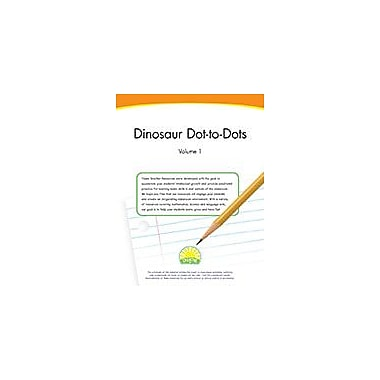 Creative IP Dinosaur Dot-To-Dots: Volume 1 Workbook By Thompson, Kim, Preschool - Grade 1 [eBook]