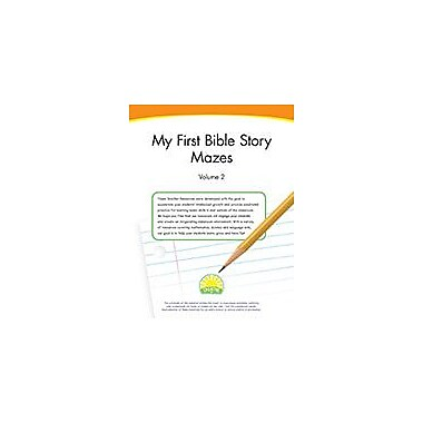Creative IP My First Bible Story Mazes: Volume 2 Workbook By Thompson, Kim, Preschool - Grade 1 [eBook]