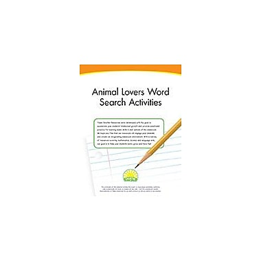 Creative IP Animal Lovers Word Search Activities Workbook By Thompson, Kim, Kindergarten - Grade 3 [eBook]