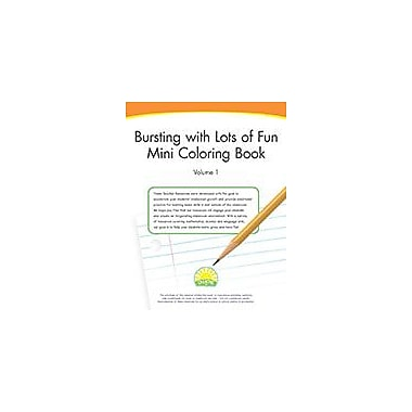 Creative IP Bursting With Lots Of Fun Mini Coloring Book Volume 1 Workbook By Thompson, Kim, Preschool - Grade 2 [eBook]