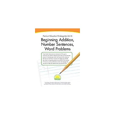 Creative IP Premium Education Kindergarten Unit 6: Beginning Addition, Number Sentences, Word Problems Workbook [eBook]