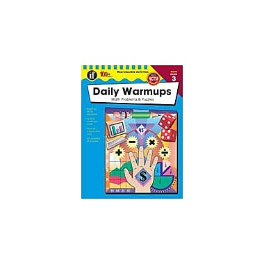 Carson-Dellosa Publishing Daily Warmups Math Problems, Grade 3 Workbook [eBook]