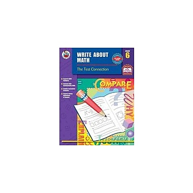 Carson-Dellosa Publishing Write About Math, Grade 6 Workbook [eBook]