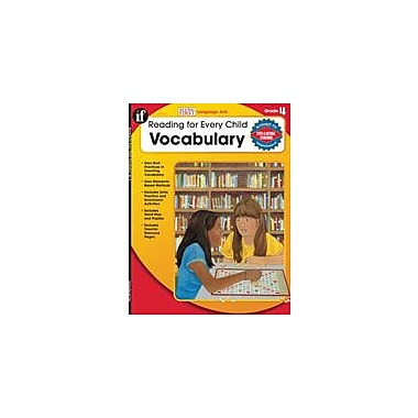 Carson-Dellosa Publishing Reading For Every Child: Vocabulary, Grade 4 Workbook By Raymer, Robyn, Grade 4 [eBook]
