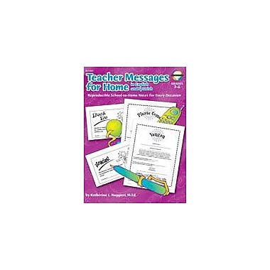 Carson-Dellosa Publishing Teacher Messages For Home (English/Spanish) Workbook, Grade 3 - Grade 6 [eBook]