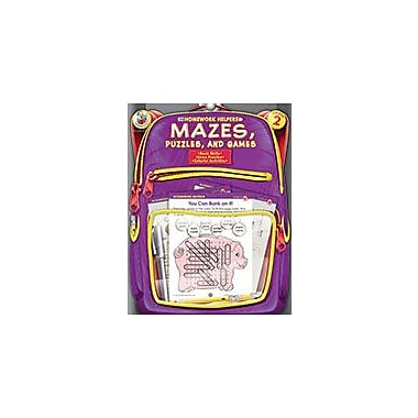 Carson-Dellosa Publishing Mazes, Puzzles, And Games, Grade 2 Workbook [eBook]