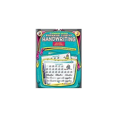 Carson-Dellosa Publishing Beginning Cursive Handwriting, Grade 3 Workbook [eBook]