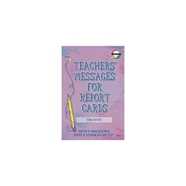 Carson-Dellosa Publishing Teachers' Messages For Report Cards, Grades K - 8 Workbook, Kindergarten - Grade 8 [eBook]