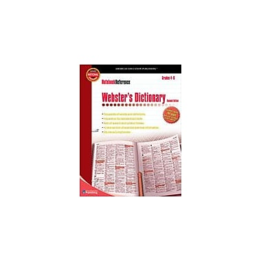 Carson-Dellosa Publishing NoteBook Reference Webster's Dictionary Workbook, Grade 4 - Grade 8 [eBook]