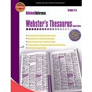 Carson-Dellosa Publishing Webster's Thesaurus, Grades 4 - 8 Workbook, Grade 4 - Grade 8 [eBook]