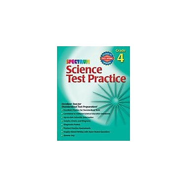 Carson-Dellosa Publishing Spectrum Science Test Practice, Grade 4 Workbook [eBook]