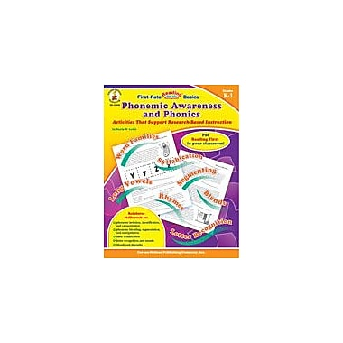 Carson-Dellosa Publishing Phonemic Awareness And Phonics, Grades K-1 Workbook By Starin, Lewis, Kindergarten - Grade 1 [eBook]