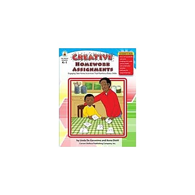 Carson-Dellosa Publishing Creative Homework Assignments, Grades K-1 Workbook By De Capua, Sarah, Kindergarten - Grade 1 [eBook]