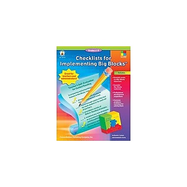 Carson-Dellosa Publishing Checklists For Implementing Big Blocks Workbook By Loman, Karen, Grade 4 - Grade 8 [eBook]