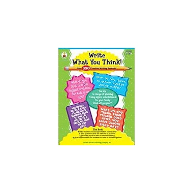 Carson-Dellosa Publishing Write What You Think! Workbook By Walters, Cyndi, Grade 3 - Grade 12 [eBook]