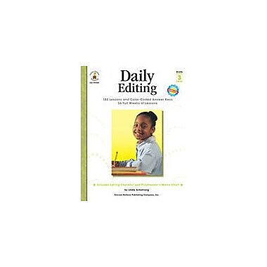 Carson-Dellosa Publishing Daily Editing, Grade 3 Workbook By Armstrong, Linda, Grade 3 [eBook]