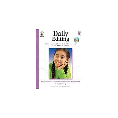 Carson-Dellosa Publishing Daily Editing, Grade 4 Workbook By Armstrong, Linda, Grade 4 [eBook]