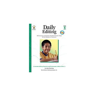 Carson-Dellosa Publishing Daily Editing, Grade 5 Workbook By Armstrong, Linda, Grade 5 [eBook]