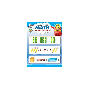 Carson-Dellosa Publishing Thinking Kids Math Analogies, Grade 3 Workbook By Cox, Leigh Morrison, Grade 3 [eBook]