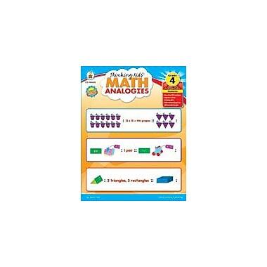 Carson-Dellosa Publishing Thinking Kids Math Analogies, Grade 4 Workbook By Cain, Janet, Grade 4 [eBook]