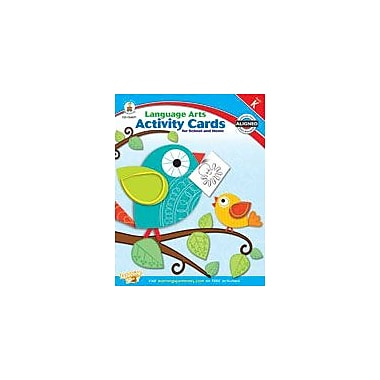 Carson-Dellosa Publishing Language Arts Activity Cards For School And Home Kindergarten Workbook, Kindergarten [eBook]