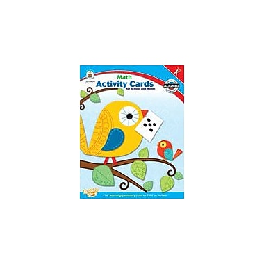 Carson-Dellosa Publishing Math Activity Cards For School And Home Kindergarten Workbook, Kindergarten [eBook]