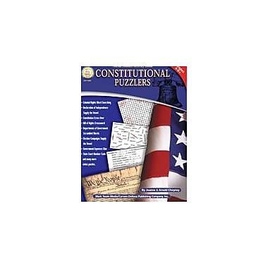 Carson-Dellosa Publishing Constitutional Puzzlers By Mark Twain Media Workbook, Grade 4 - Grade 8 [eBook]