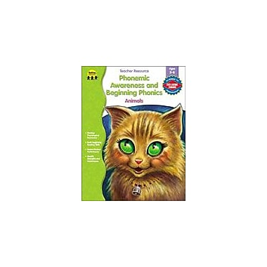 Carson-Dellosa Publishing Phonemic Awareness And Beginning Phonics: Animals Workbook, Preschool - Grade 1 [eBook]