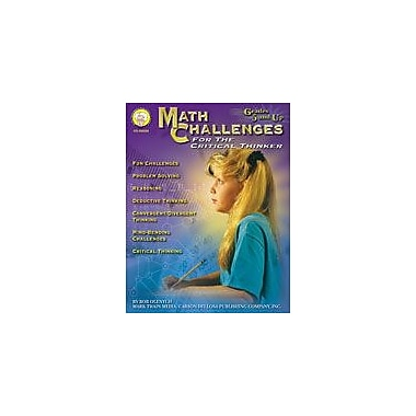 Carson-Dellosa Publishing Math Challenges For The Critical Thinker By Mark Twain Media Workbook, Grade 5 - Grade 8 [eBook]