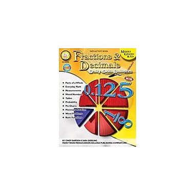 Carson-Dellosa Publishing Daily Skill Builders: Fractions & Decimals By Mark Twain Media Workbook, Grade 4 - Grade 12 [eBook]