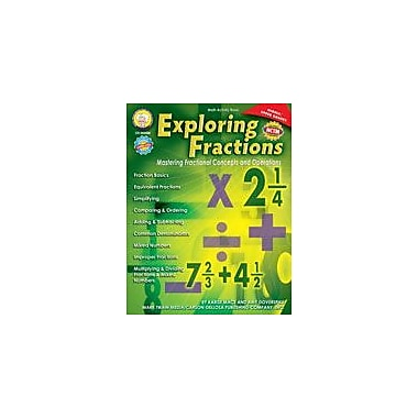Carson-Dellosa Publishing Exploring Fractions: Mastering Fractional Concepts And Operations By Mark Twain Media Workbook [eBook]