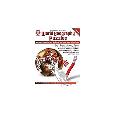 Carson-Dellosa Publishing World Geography Puzzles By Mark Twain Media Workbook By Mark Twain, Grade 5 - Grade 9 [eBook]