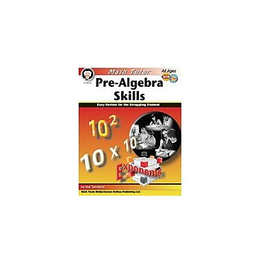 Carson-Dellosa Publishing Math Tutor: Pre-Algebra By Mark Twain Media Workbook By Torrance, Hal, Grade 6 - Grade 12 [eBook]
