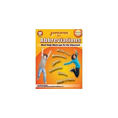 Carson-Dellosa Publishing Jumpstarters For Abbreviations By Mark Twain Media Workbook, Grade 4 - Grade 8 [eBook]