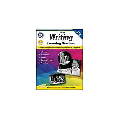 Carson-Dellosa Publishing Writing Learning Stations By Mark Twain Media Workbook, Grade 6 - Grade 8 [eBook]